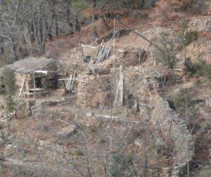 Site du Chantier médiéval de la Sogne, février 2014.